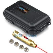 VERY100 Tactical 7mm REM MAG Brass Laser Cartridge Bore Sighter + Waterproof Box Free shipping