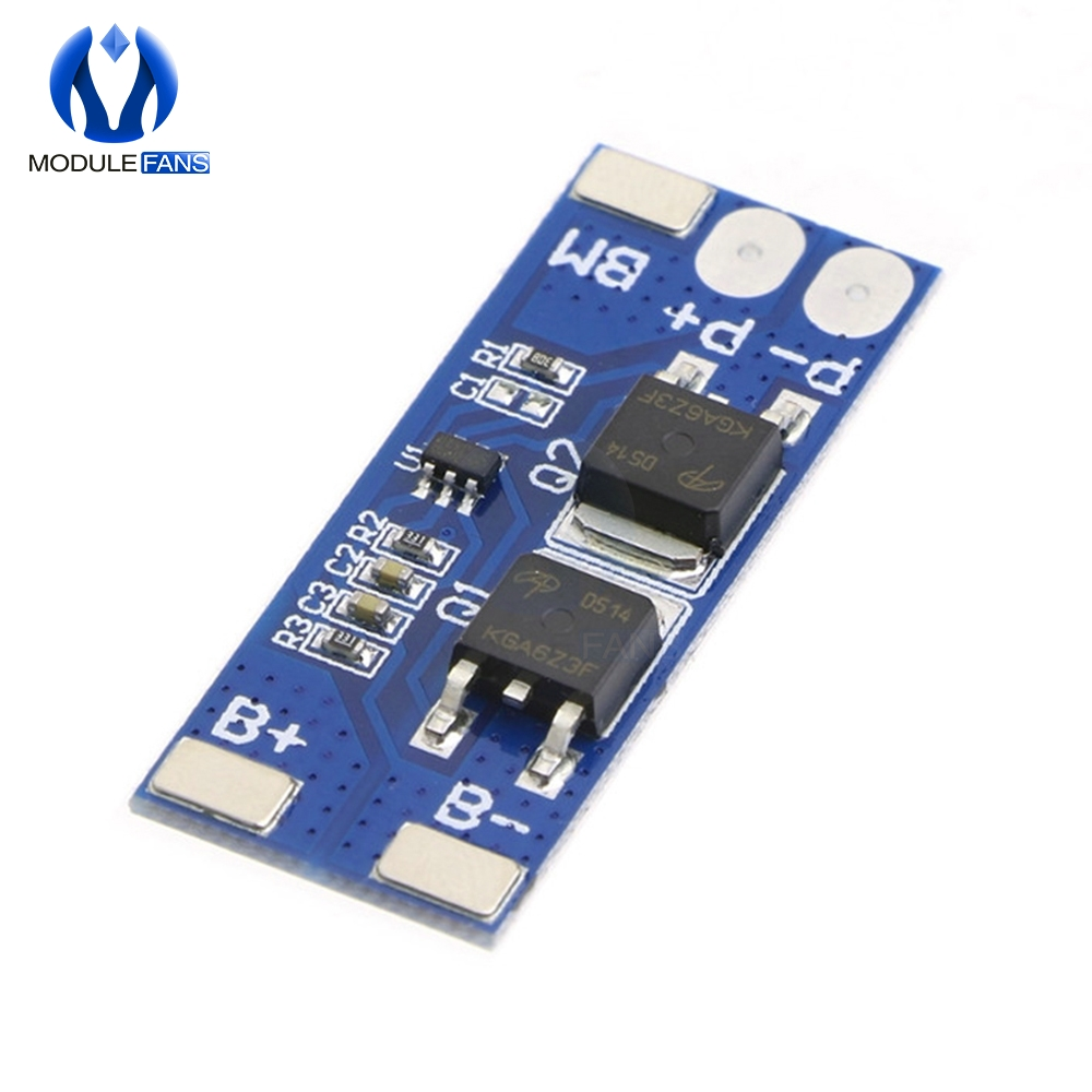 1 cell Lithium Battery Protection Board BMS PCB 1S Pack DW01A 8205A 3A 3.7V