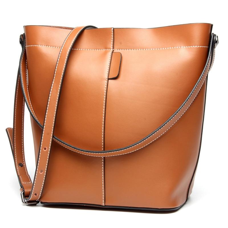 New LUXURY Cow Split Leather Women Shoulder Bag Brand Designer Handbags Crossbody Bag Bucket Shopping Bag<br><br>Aliexpress
