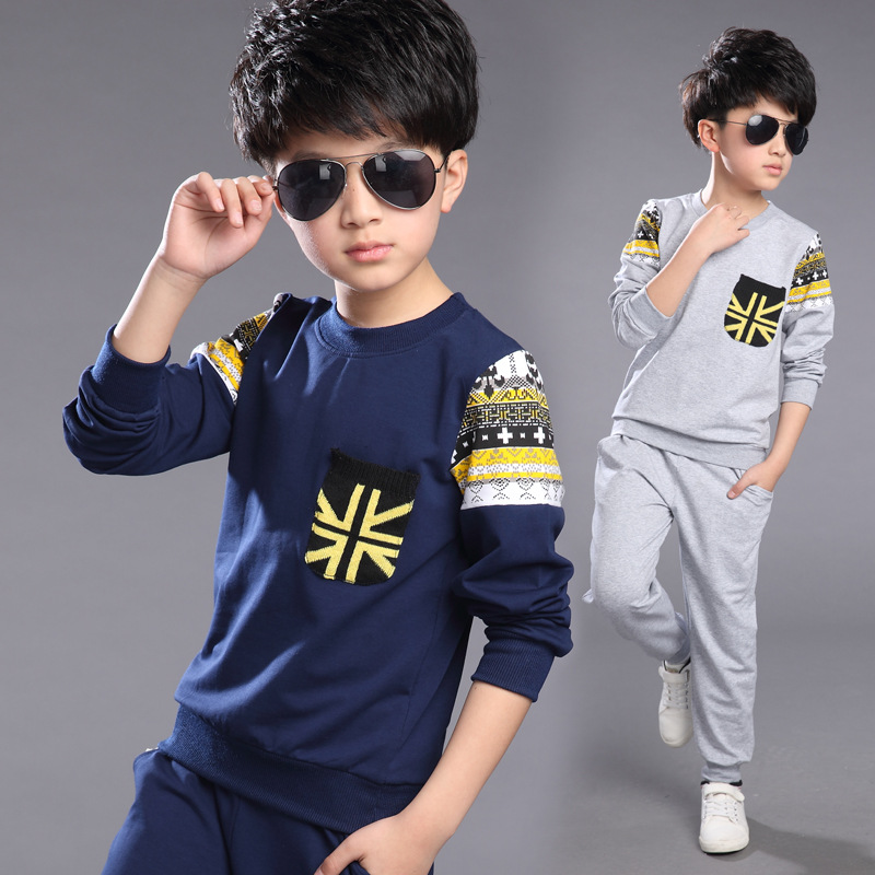 Baby boy clothes of autumn teenage boy sportswear school childrens clothing apparel hoodie 2 PC 4 ~ 13 T boys clothes<br><br>Aliexpress
