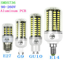 Real wattage 3w 5w 7w 10w 90-260V SMD 5736 High bright bulb E27 E14 G9 GU10 LED Corn Bulb SMD 5730 led aluminum pcb light lamp