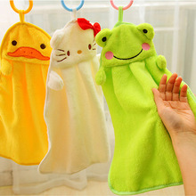 Hanging Kitchen Towel Cotton Soft Plush Fabric Cute Animal Microfiber Children Kitchen Bathroom Lovely Towel KC1051
