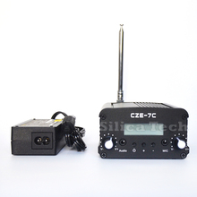CZE-7C 7W stereo PLL FM transmitter broadcast radio station +PS Ant kit
