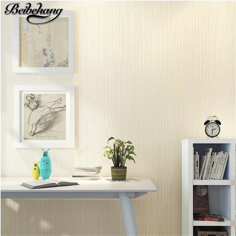 beibehang Modern simple solid color striped wallpaper vertical bedroom living room television background warm plain wallpaper<br>