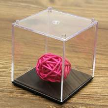 "Hot Sale 2""x2""x2"" Clear Acrylic/Plastic Mini Cute Display Box Case Dustproof Tray Protection Cube For Blocks Toys"