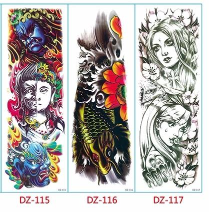 Waterproof Temporary Tattoo Sticker full arm large size robot arm tatto flash tatoo fake tattoos sleeve for men women 19 11