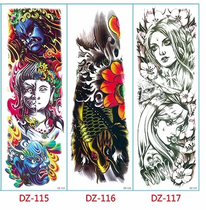 Waterproof Temporary Tattoo Sticker full arm large size robot arm tatto flash tatoo fake tattoos sleeve for men women 19 11