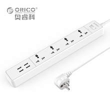 ORICO OSC-4A4U Home Office EU/US Surge Protector With 4 USB Charger 4 Universal AC Plug Multi-Outlet Travel Power Strips - White