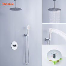 Luxury Rain Bath Combination Shower Mixer Digital Ceiling Mounted Rainfall Shower Head Stainless Steel Shower BR-CF-F09