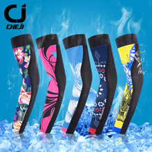 CHEJI Women Cycling Sleeves Arm Warmer Racing Bike Bicycle Equipements UV Protection Ourdoor Running Trainning Sports Arm Warmer