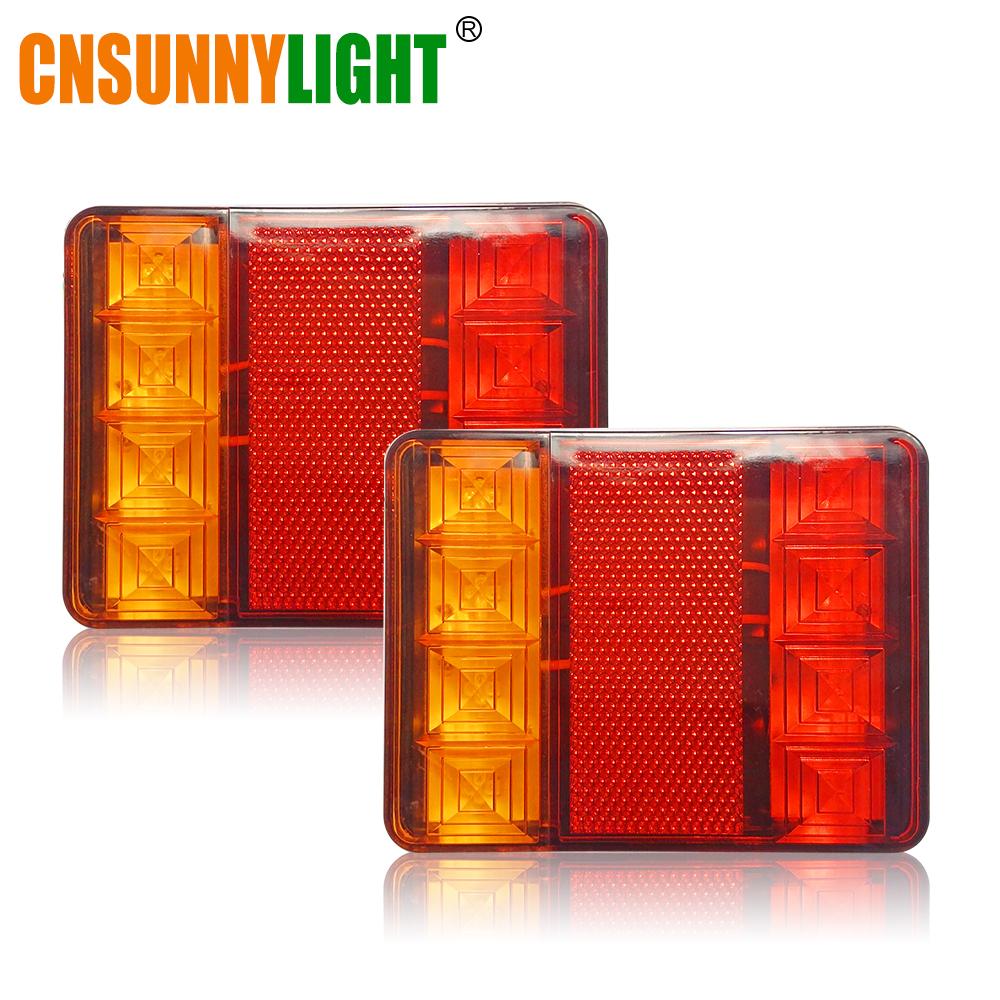 CNSUNNYLIGHT Car Truck Rear Tail Light Warning Lights Rear Lamps Waterproof Tailight Rear Parts for Trailer Caravans DC 12V 24V (3)