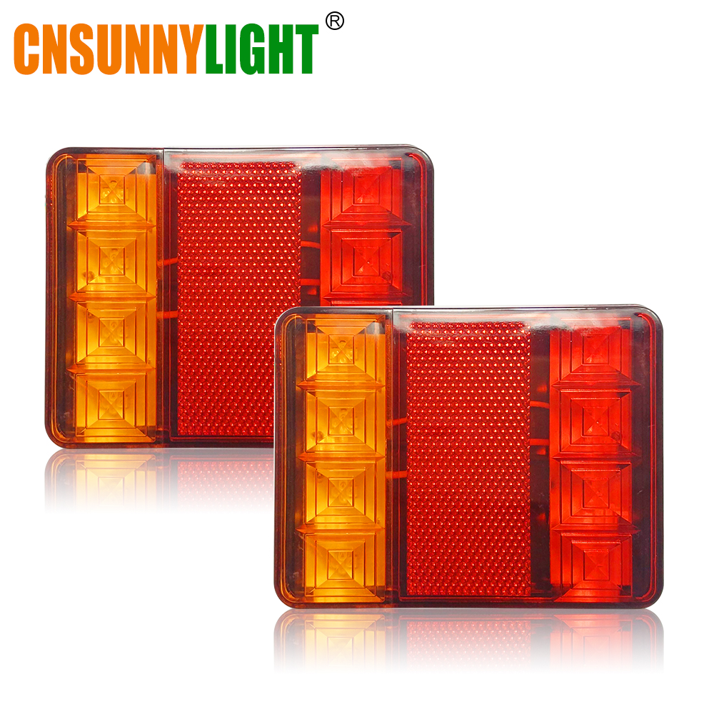 CNSUNNYLIGHT Car Truck Rear Tail Light Warning Lights Rear Lamps Waterproof Tailight Rear Parts for Trailer Caravans DC 12V 24V (3)