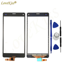 For Sony Xperia Z3 Compact M55W D5803 D5833 Z3 Mini Touch Panel Screen Sensor LCD Display Digitizer Outer Front Glass Lens(China)