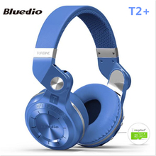 Original Bluedio T2+ Bluetooth 4.1 Foldable Headset Headphones Stereo Support FM Radio MicroSD Card Functions Music Phone Call