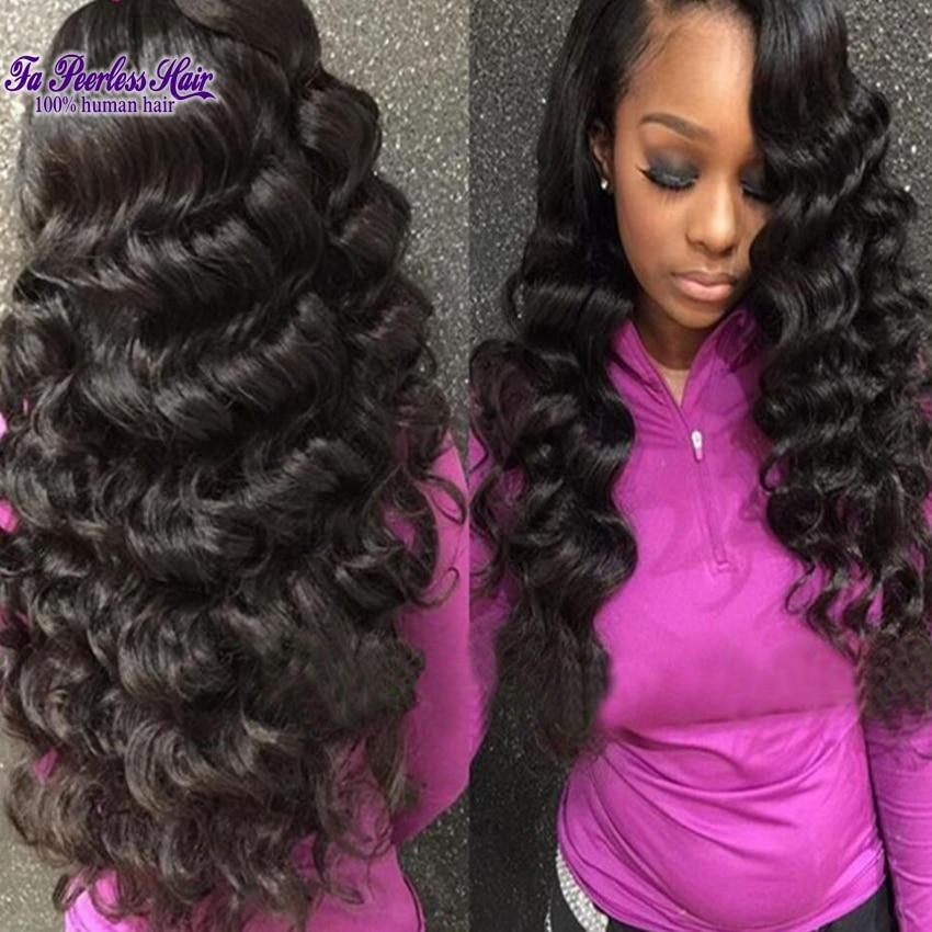 8A Mocha Hair Peruvian Virgin Hair Loose Wave Annabelle Hair Remy Human Hair Extension Tissage Peruvian Lots 4 Loose Curls 100G<br><br>Aliexpress