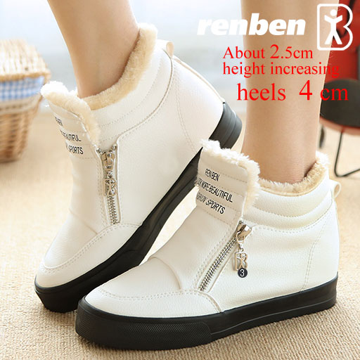 plus  women boots 2017 winter high heels ankle boots soft pu leather round  motorcycle boots quality fashion cool shoes<br><br>Aliexpress