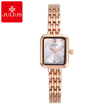 2017 Women Stainless Steel Style Quartz Beautiful Wristwatch Girl Fashion Casual Cheap Watch Student Good Gift Julius 771 Clock(China)