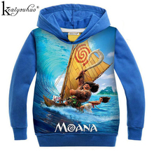 2017 New Spring MOANA Girls Sweatshirts Clothes Boy Ocean Puzzle Sweatshirts Children Clothing Kids Cotton Hoodies Kids Clothes()