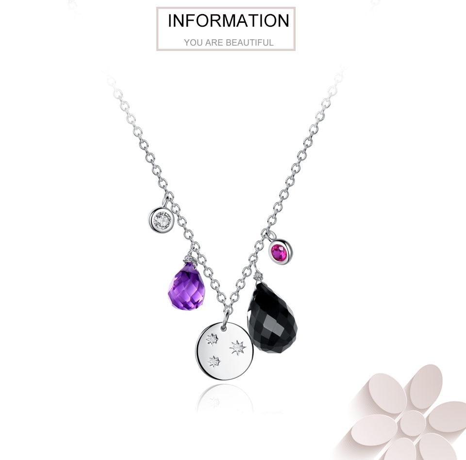silver amethyst flower necklace for women (1)