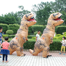 Adult T-REX Inflatable Costume Christmas Cosplay Dinosaur Animal Jumpsuit Halloween Costume for Women Men(China)