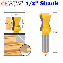 "1pc 1/2"" Shank  23/32"" Radius Convex Column/Face Molding Router Bit Line knife Door knife Tenon Cutter for Woodworking Tools"
