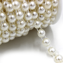 15m/roll Wedding Decoration Centerpieces Supplies 10mm Fishing Line Pearls Beads Chain Christmas Pearl Garland Decor