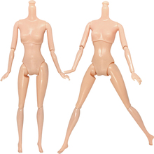 NK Two Pcs/Set 12 Joints Doll Naked Body Birthday Gift DIY Kids Toy For Barbie Doll For 1/6 BJD Doll Without Head Doll Accessory