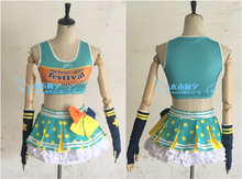 love live Paradise Live HOSHIZORA RIN cosplay costume free shipping custome made headband+top+skirt+stockings+gloves(China)