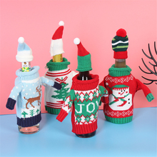 Christmas Wine Bottle Cover Bag Navidad Banquet Dinner Party Xmas Plush Cute Snowmen Table Decor New Years Supplies - Yiwu House Store store