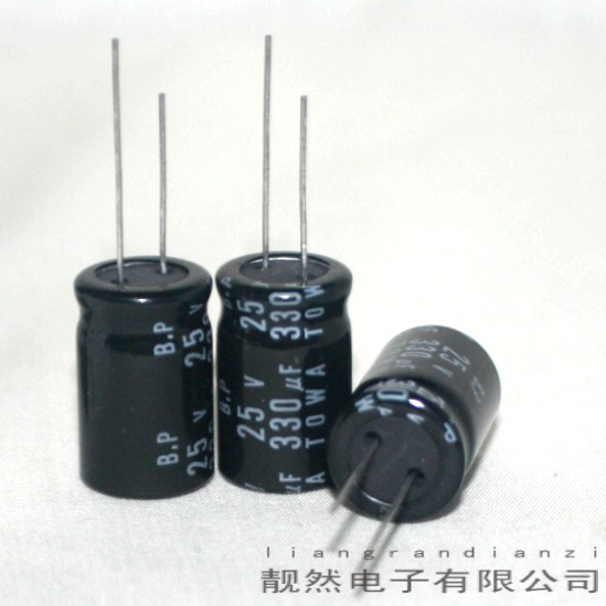 BP 330uF 25v 13x20 electrolytic capacitor<br><br>Aliexpress