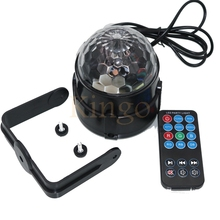 NEW 3W Voice-activated remote control LED small magic crystal ball mini rotating light colorful laser stage lights KTV bar light
