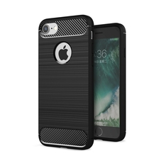 ZUCZUG for iPhone 8 7 Plus Rugged Armor Case Slim Carbon Fiber Textured Soft Silicone TPU Brushed Cover Ultimate Protection(China)