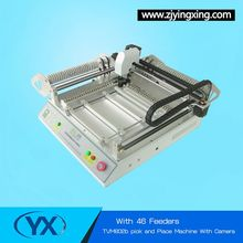 46 Feeders TVM802B Desktop SMD Pick and Place Machine/ SMT LED Assemble Robot With BGA Repair Station