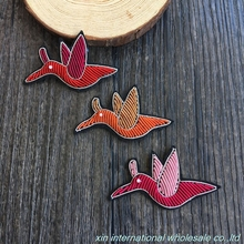 coins original Manual sewing of metal wire badge Cute fashion Mini bird rozetHigh grade clothing chapter badges(China)