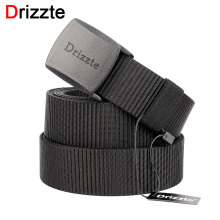 Drizzte Mens Plus Size Nylon Web Belt 160 170 180 190 200cm Webbing YKK POM Plastic Buckle 39 to 79inch Duty Belt for Big Man(China)