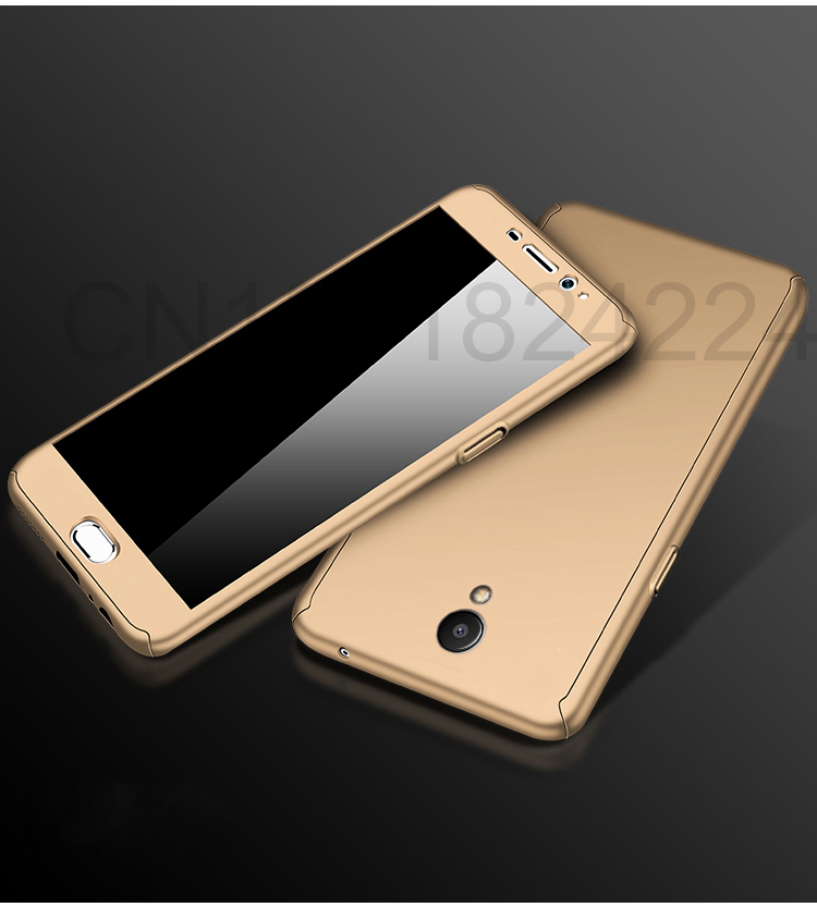 360 Full Case For Meizu Pro 7 Cases Hard PC Degree For Meizu  M6 Note M6 M5 Note  M6s Cover + Tempered Glass A17