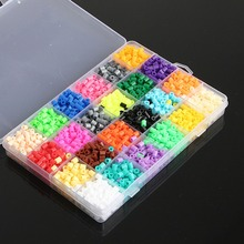 New Arrival 2400pcs/set Hama Perler Beads 5mm 24 Colors Funny Toys For Kids Children DIY Craft Educational Model Toys