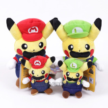 Cartoon Cute Pikachu Cos Super Mario Bros Luigi Mario Plush Toys Soft Stuffed Doll Christmas Gift For Children 2 style(China)