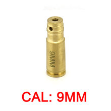 9mm Red Laser Dot Boresighter CAL: 9mm Pistol Bore Sight Caliber Cartridge Boresight Hunting for Handguns Rifle