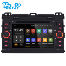 "New 7"" Quad Core 1024*600 Car DVD Player GPS Navigation Radio Audio For Toyota Prado GPS Capacitive Touch Screen Radio With Maps"