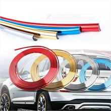 8M Electroplate Color Car Decorative Strip Car Motorcycle Wheel Hub Tire Sticker Body/Rim Protection Care Covers Car Styling