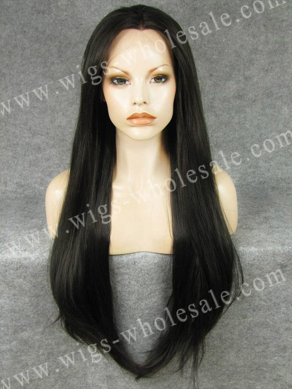 Extra Long Wigs Long Straight Black Synthetic Lace Front wig  Drag Queen Wigs<br><br>Aliexpress