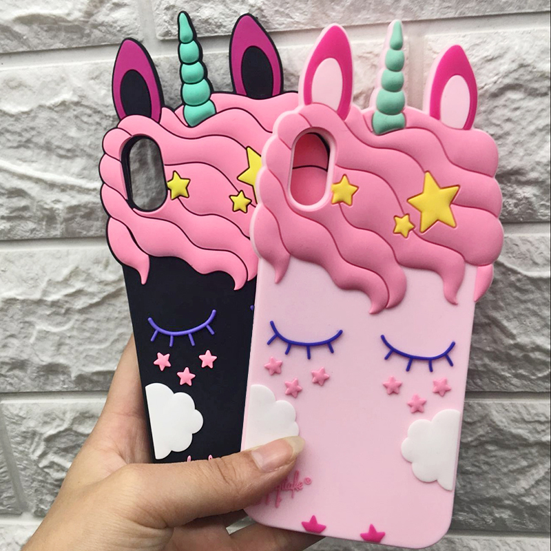 3D Cute Cat Unicorn Dog Rubber Case For iPhone 7 6 6S Plus 5s SE Soft Silicone Cartoon Cover Back For iPhone 8 7 6S 5S X Capa (14)