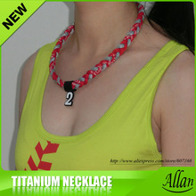 custom sport healthy titanium necklace