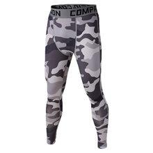 Hombres compresión pantalones largos Running Base capas Skins medias  ejército camuflaje fútbol pantalones (blanco y negro) a163653f0b938