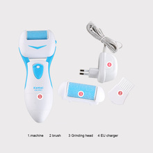 Kemei Skin Foot Dead Removal Electric Exfoliator Heel Cuticles Feet Care Tool Machine Pedicure Skin Remover Personal Massager