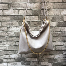 western fashion trend ins woman black chain handbag designer brand new causal stella plain bag bolsa feminina carteras mujer