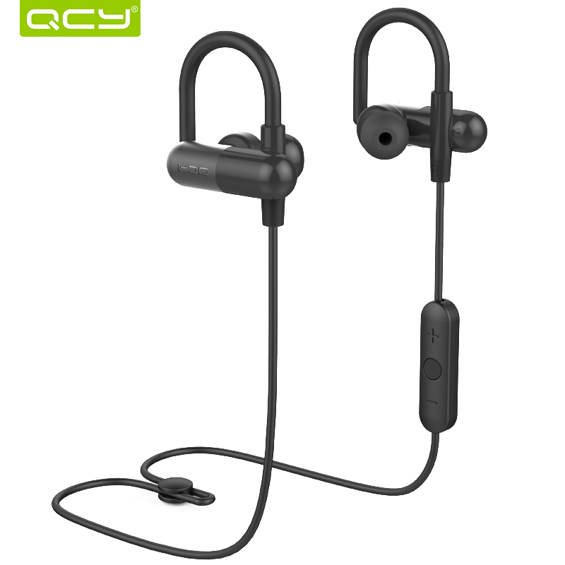 QCY QY11 HIFI 3D stereo earphones MP3 bass music earphones bluetooth 4.1 wireless earphones sports ear hook(China)
