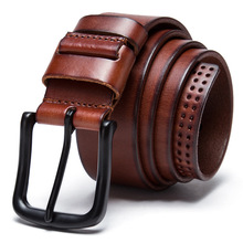 Designer Belts Men High Quality Real Cow Leather Belt Man Luxury Pin Buckle Cowhide Skin Strap Male Formal Men's Belts MC07(China)