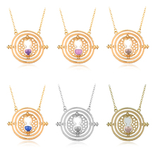 6 Styles Time Turner Necklace Hermione Granger Rotating Spins Gold Hourglass